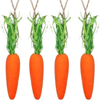 gisela graham easter 81023 pack 4 flocked carrot decorations 02 copy 2 2