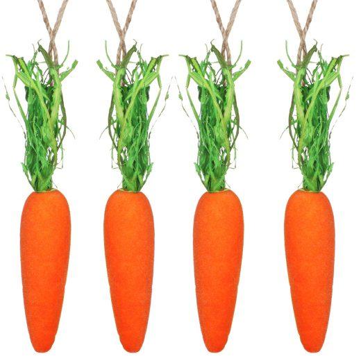 gisela graham easter 81023 pack 4 flocked carrot decorations 02 copy 2 2