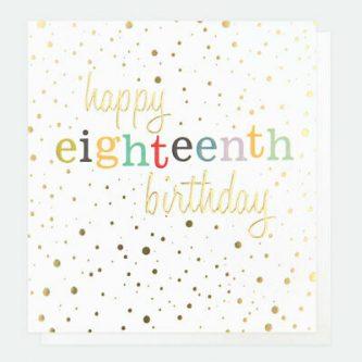 Happy Eighteenth 18th Birthday Card by Caroline Gardner