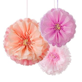 talking tables blush flower pom poms pk3 dd pomflower blush 1024x1024