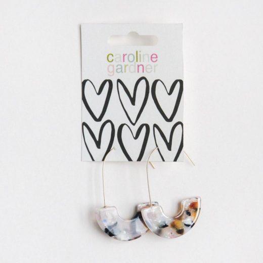 earrings gift for her fashion accessories caroline gardner earrings acrylic multi half hoop da6051 2 1200x1200
