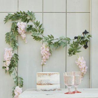 tea 624 wisteria flower garland min