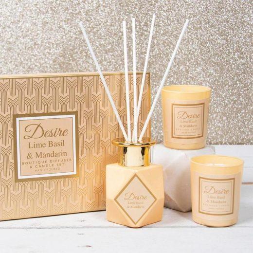 desire boutique diffuser candle set lime basil gainsborough 380659 800x
