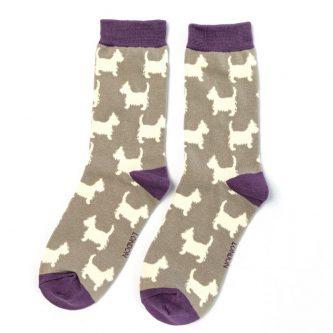 ladies socks scottie sks210 light grey