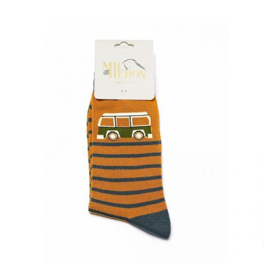 men s socks camper stripe mh182 mustard