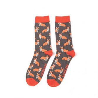 men s socks corgis mh186 grey.4