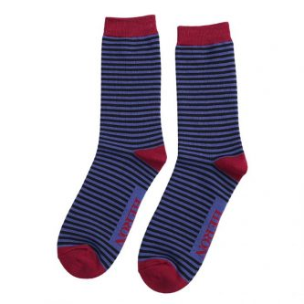 men s socks mini stripes mh174 blue black