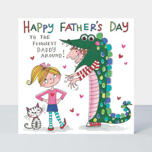 xFDEYE1 funniest dad around crocodile card 768x768 (1)