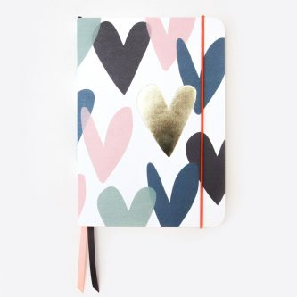 Teal Falling Hearts A5 Notebook AFN113 1 1200x1200