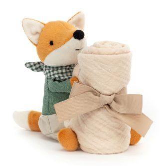 jellycat little rambler fox soother L