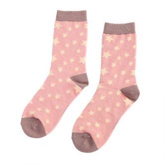 ladies socks stars sks193 dusky pink
