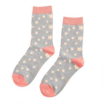 ladies socks stars sks193 grey
