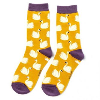 ladies socks swans sks213 yellow