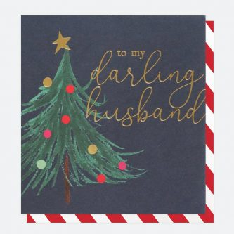 single painted christmas card for husband caroline gardner QUX034 1 1800x1800