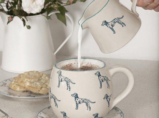 spm76 smj76 ssp76 dalmatian stoneware patterned mug mini jug and side plate lifestyle high res square 900x 8b81f135 a12f 4b0d 93da 4942619a47db